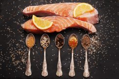 Fresh salmon and spices